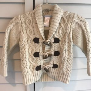 Janie and Jack Cable Knit Cardigan Sweater
